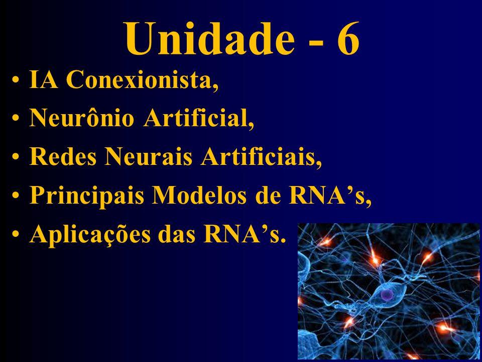 Unidade - 6 IA Conexionista, Neurônio Artificial,