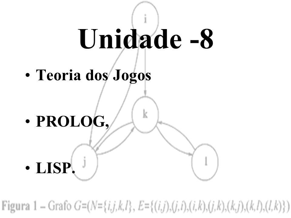 Unidade -8 Teoria dos Jogos PROLOG, LISP.