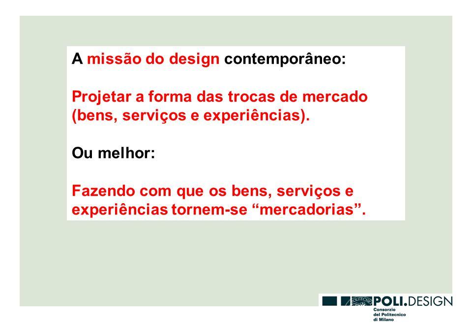 A missão do design contemporâneo: