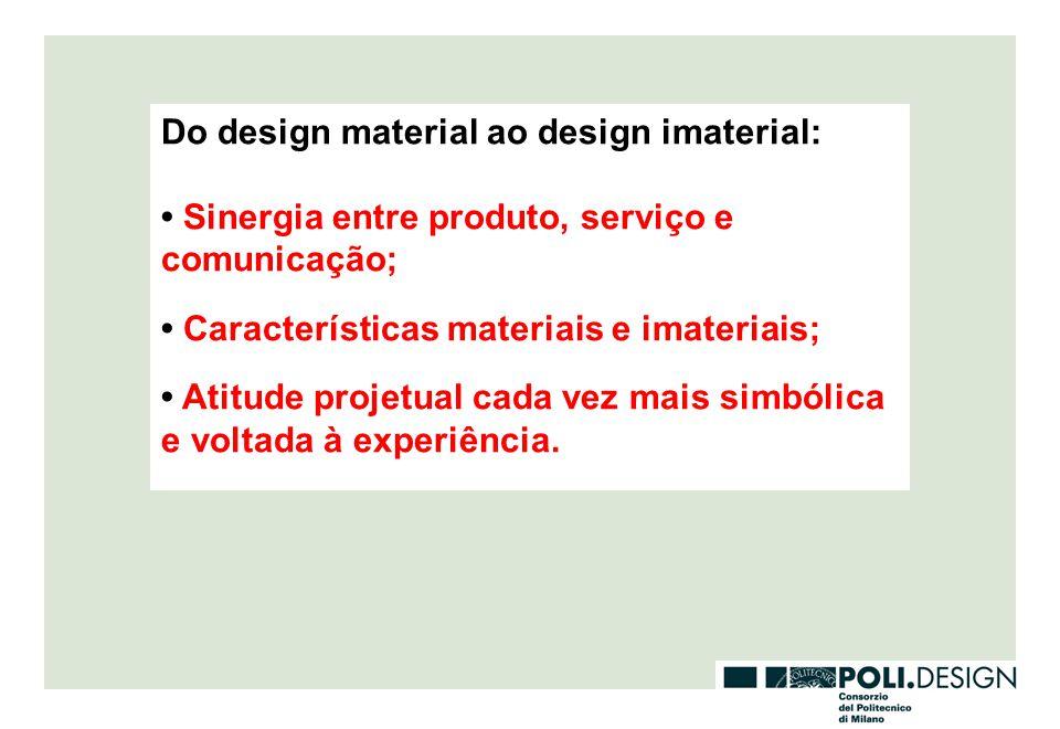 Do design material ao design imaterial:
