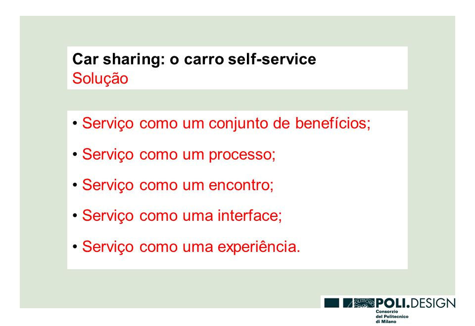 Car sharing: o carro self-service