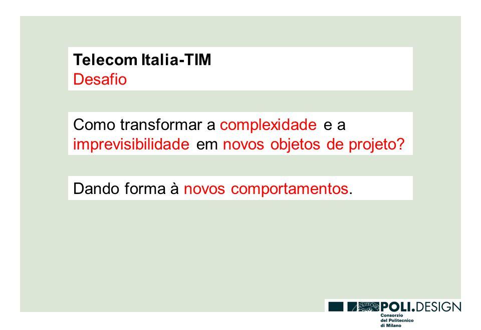 Telecom Italia-TIM Desafio. Como transformar a complexidade e a imprevisibilidade em novos objetos de projeto