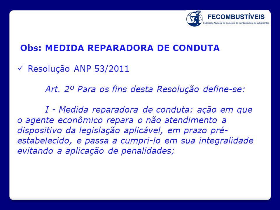 Obs: MEDIDA REPARADORA DE CONDUTA