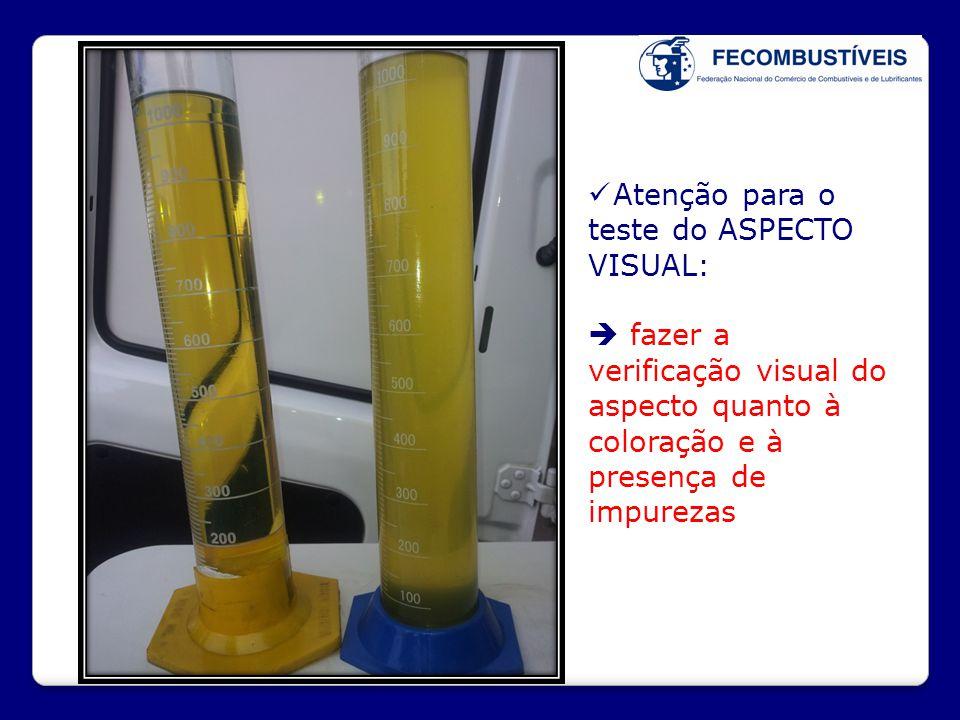 Atenção para o teste do ASPECTO VISUAL: