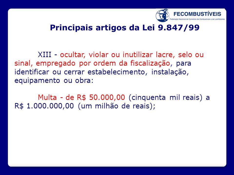 Principais artigos da Lei 9.847/99