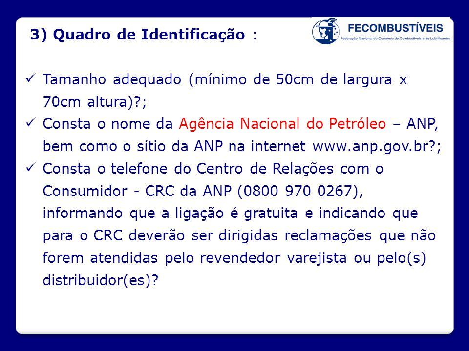 3) Quadro de Identificação :