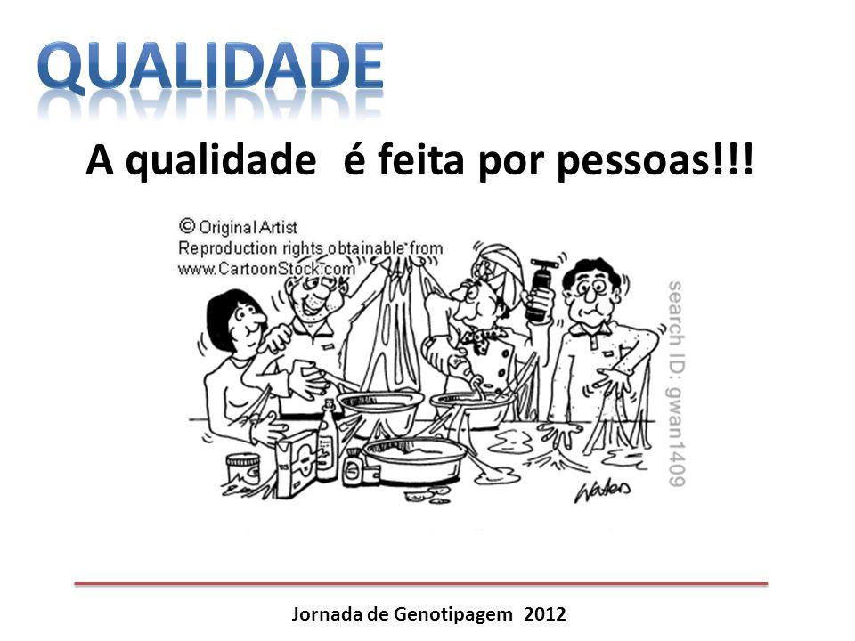 A qualidade é feita por pessoas!!! Jornada de Genotipagem 2012