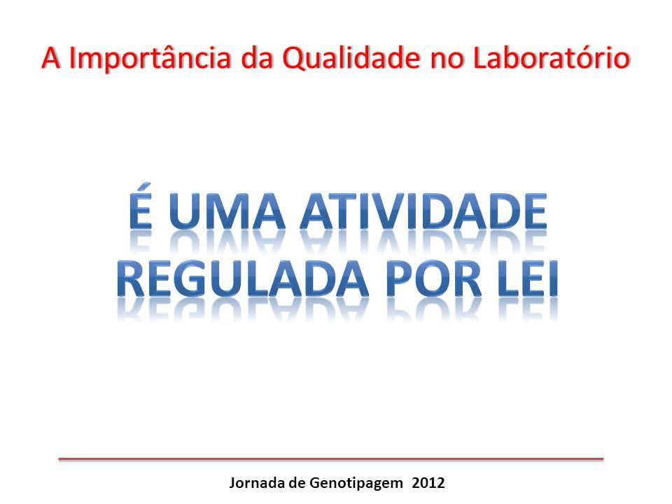 É uma atividade regulada por lei Jornada de Genotipagem 2012