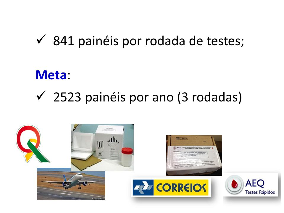 841 painéis por rodada de testes;
