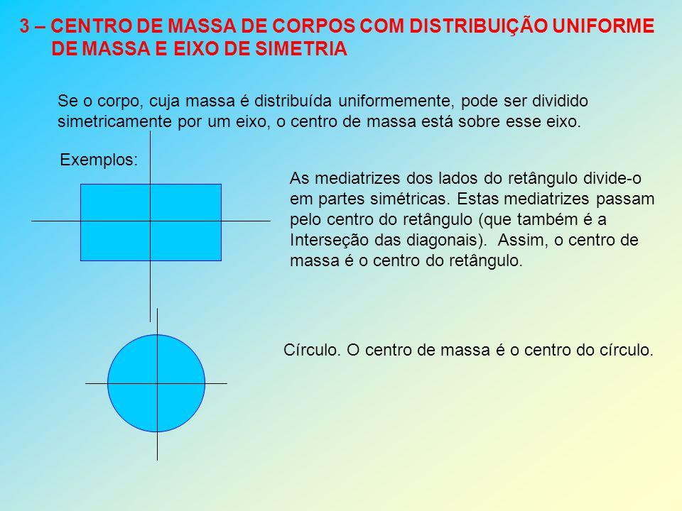 3 – CENTRO DE MASSA DE CORPOS COM DISTRIBUIÇÃO UNIFORME