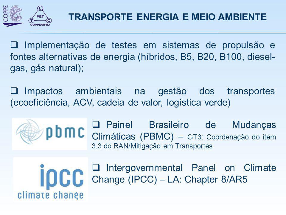 TRANSPORTE ENERGIA E MEIO AMBIENTE