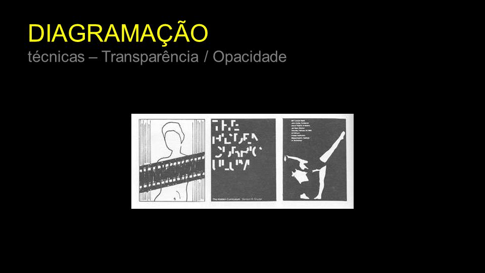 DIAGRAMAÇÃO técnicas – Transparência / Opacidade