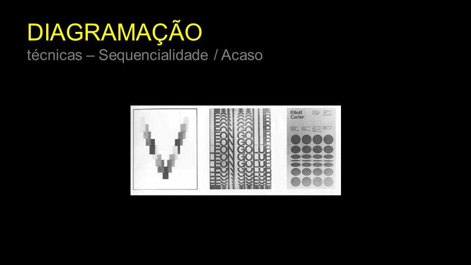 DIAGRAMAÇÃO técnicas – Sequencialidade / Acaso