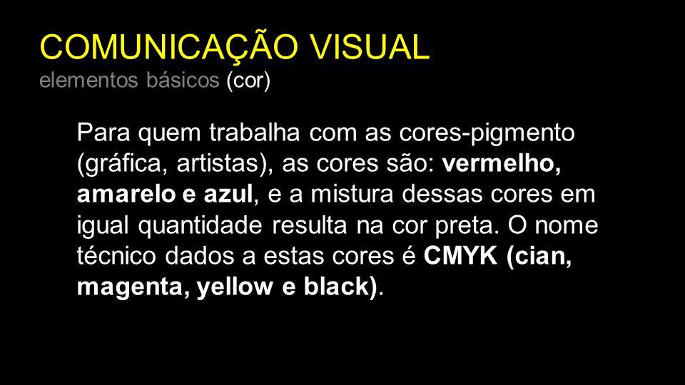COMUNICAÇÃO VISUAL elementos básicos (cor)