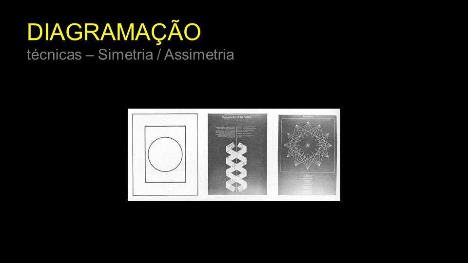 DIAGRAMAÇÃO técnicas – Simetria / Assimetria