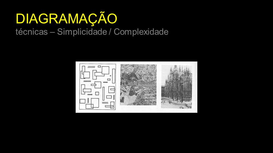 DIAGRAMAÇÃO técnicas – Simplicidade / Complexidade