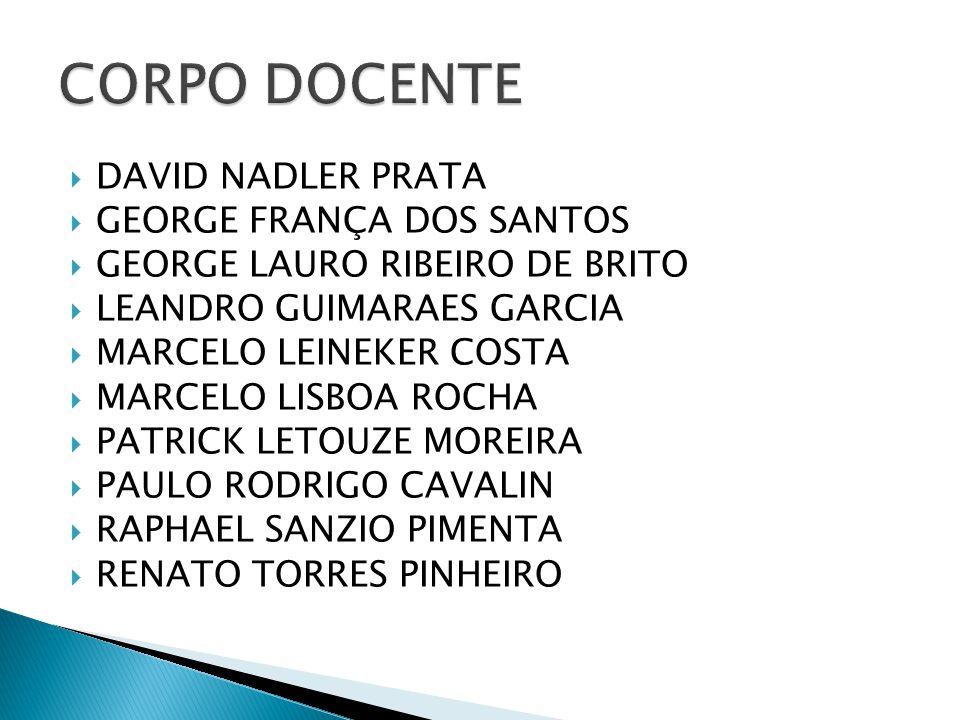 CORPO DOCENTE DAVID NADLER PRATA GEORGE FRANÇA DOS SANTOS
