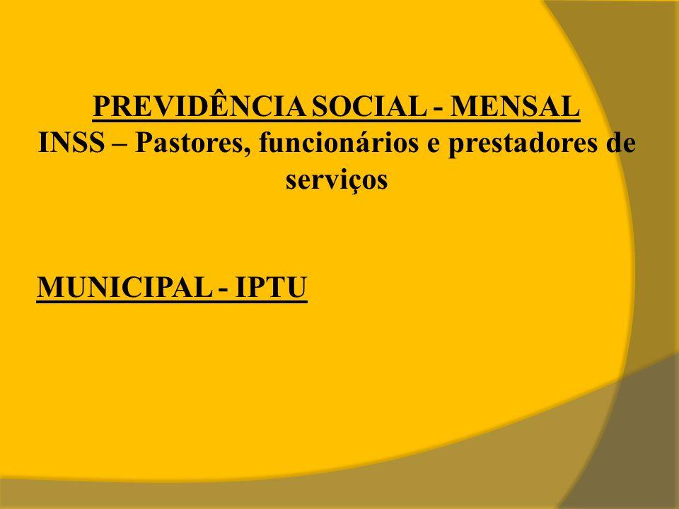 PREVIDÊNCIA SOCIAL - MENSAL