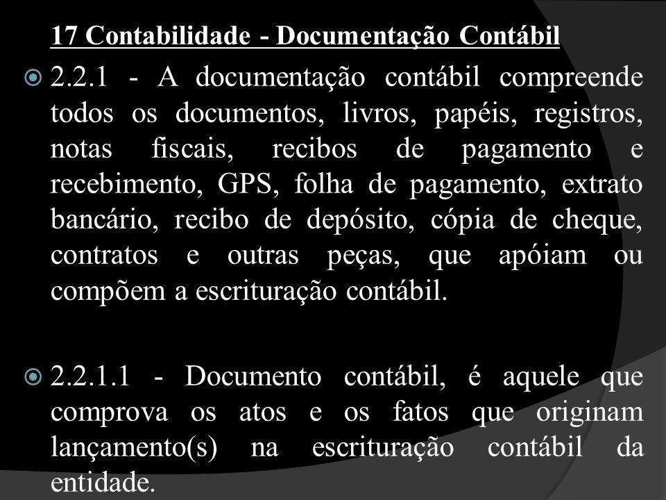 17 Contabilidade - Documentação Contábil