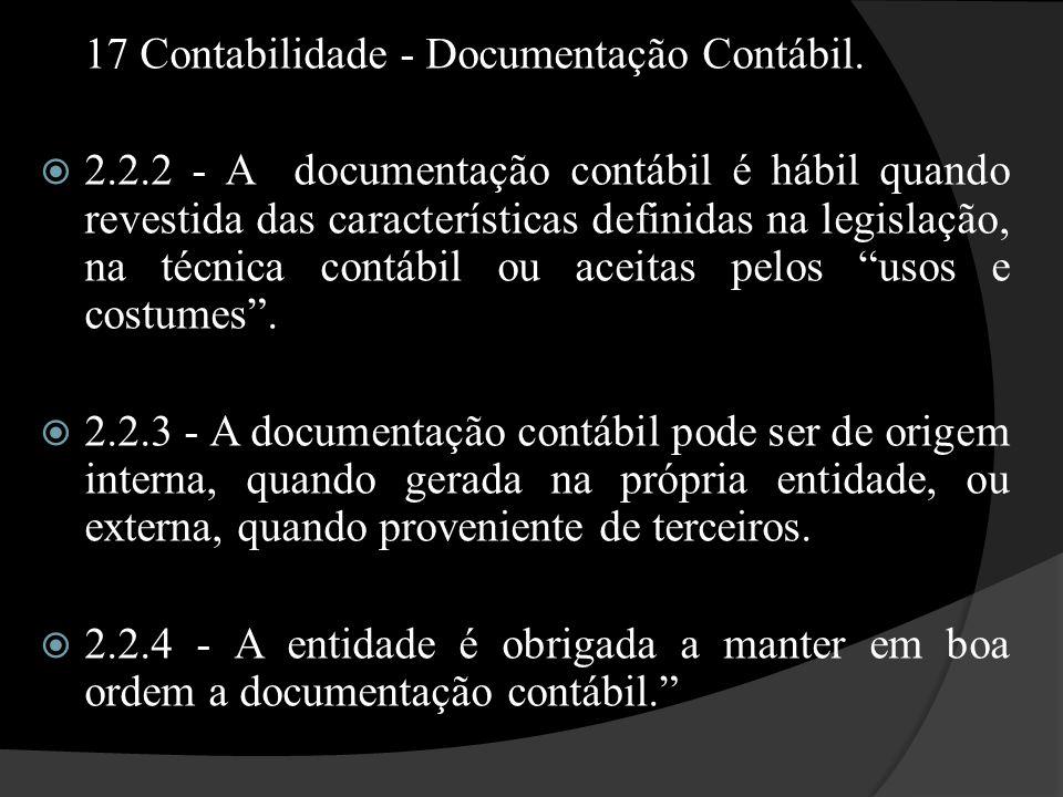 17 Contabilidade - Documentação Contábil.