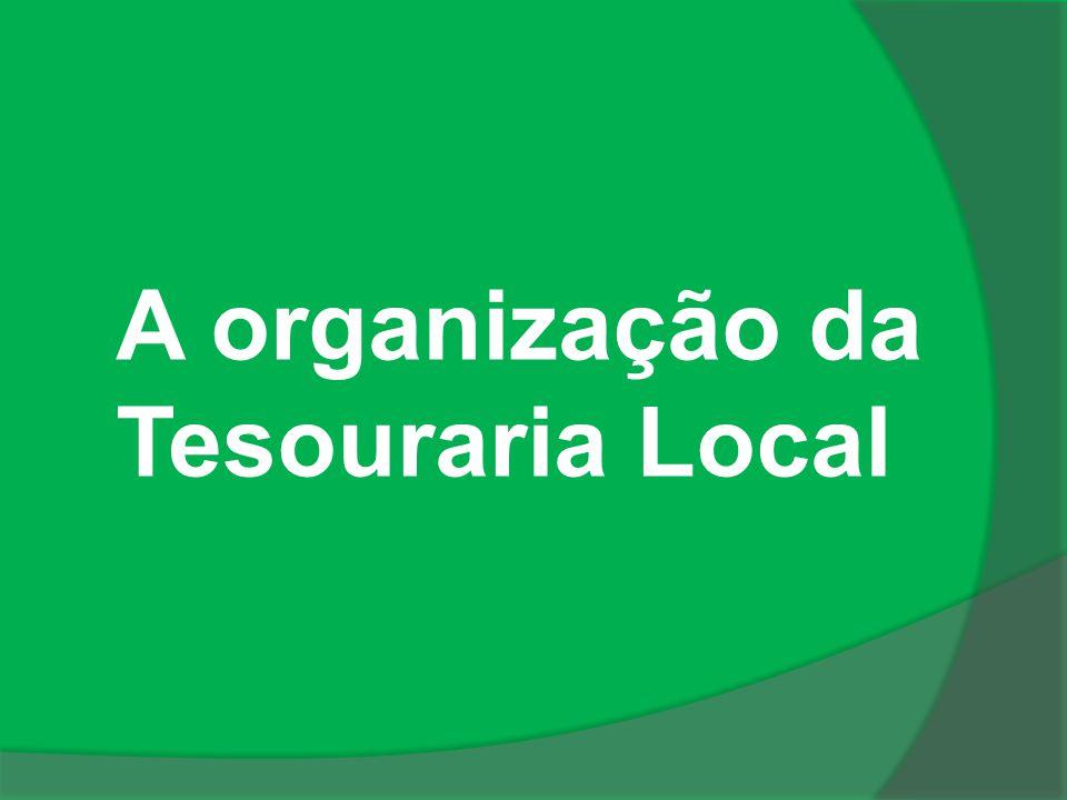 A organização da Tesouraria Local