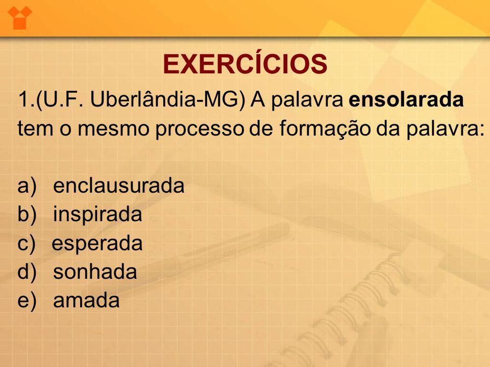 EXERCÍCIOS 1.(U.F. Uberlândia-MG) A palavra ensolarada