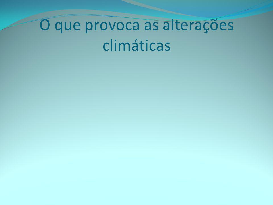 O que provoca as alterações climáticas