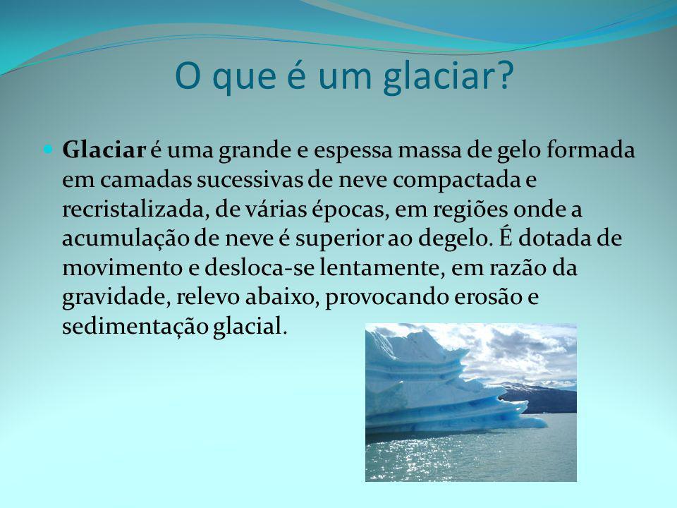 O que é um glaciar