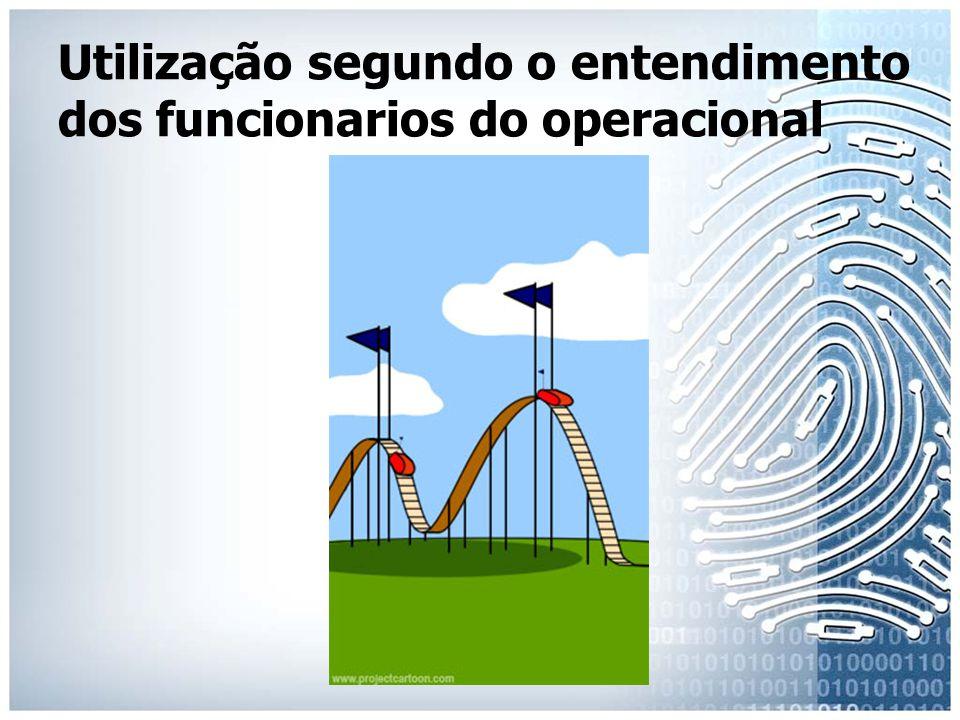 Utilização segundo o entendimento dos funcionarios do operacional