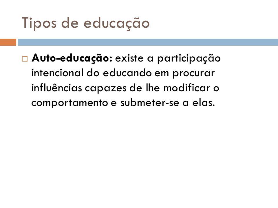 Tipos de educação