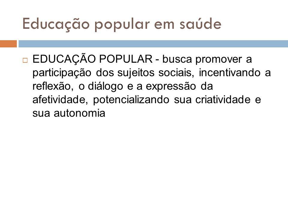 Educação popular em saúde