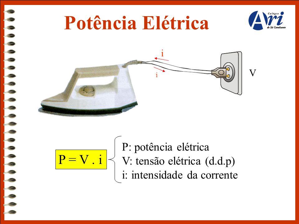 Potência Elétrica P = V . i