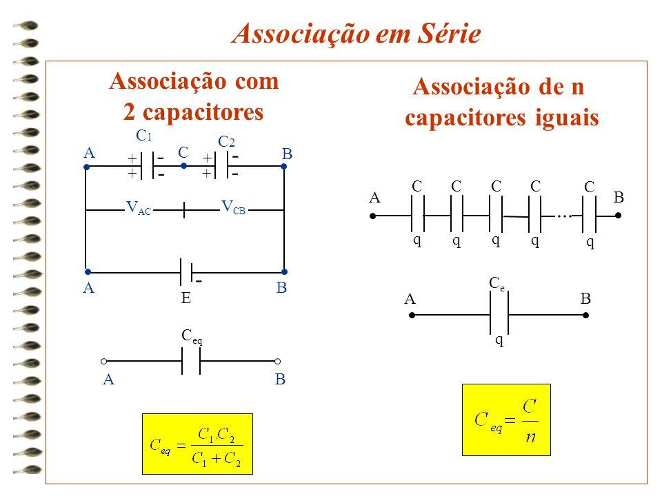 Associação em Série Associação com Associação de n 2 capacitores