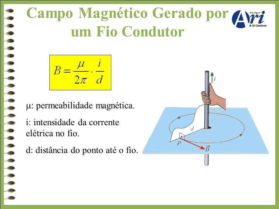 Campo Magnético Gerado por um Fio Condutor