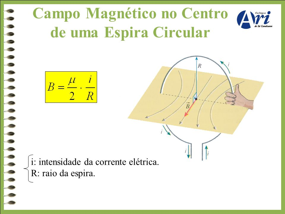 Campo Magnético no Centro de uma Espira Circular