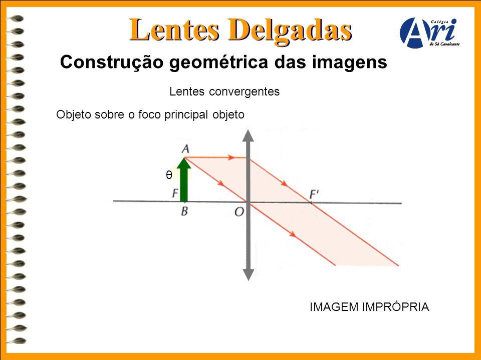 Lentes Delgadas Construção geométrica das imagens Lentes convergentes