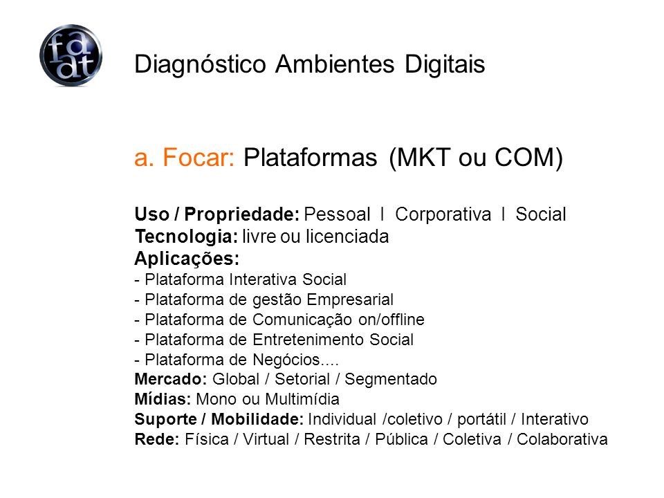 Diagnóstico Ambientes Digitais a