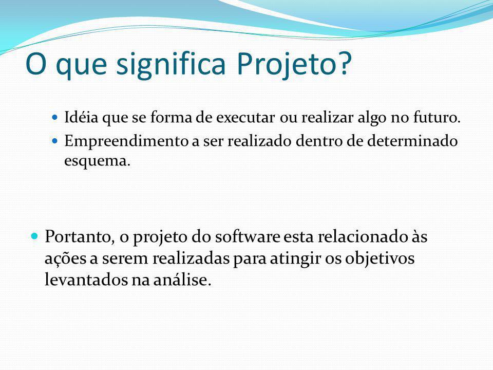O que significa Projeto