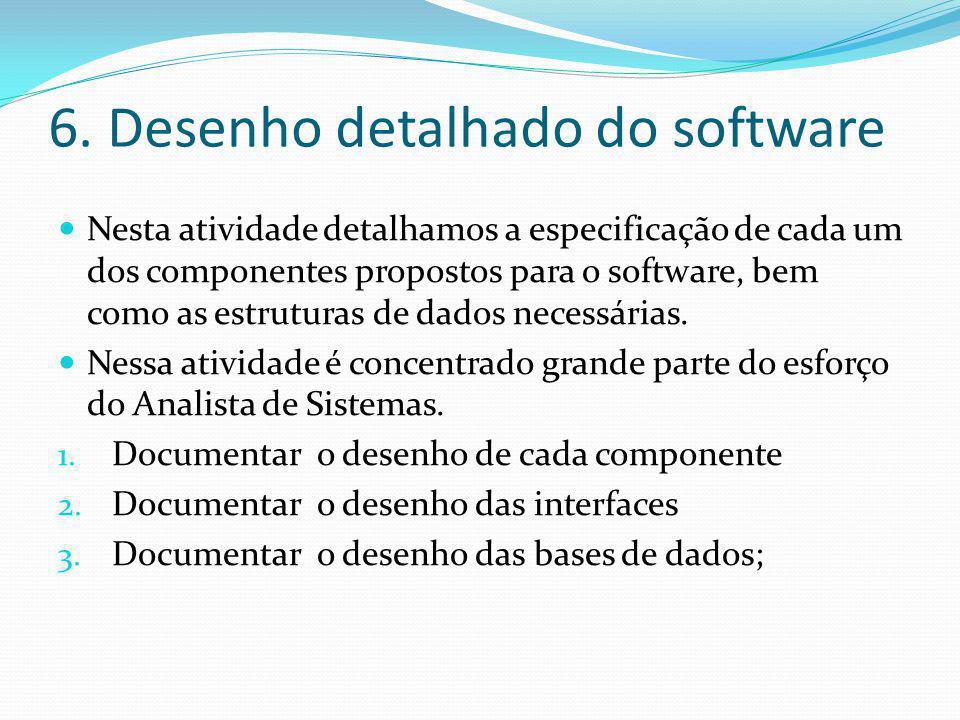 6. Desenho detalhado do software