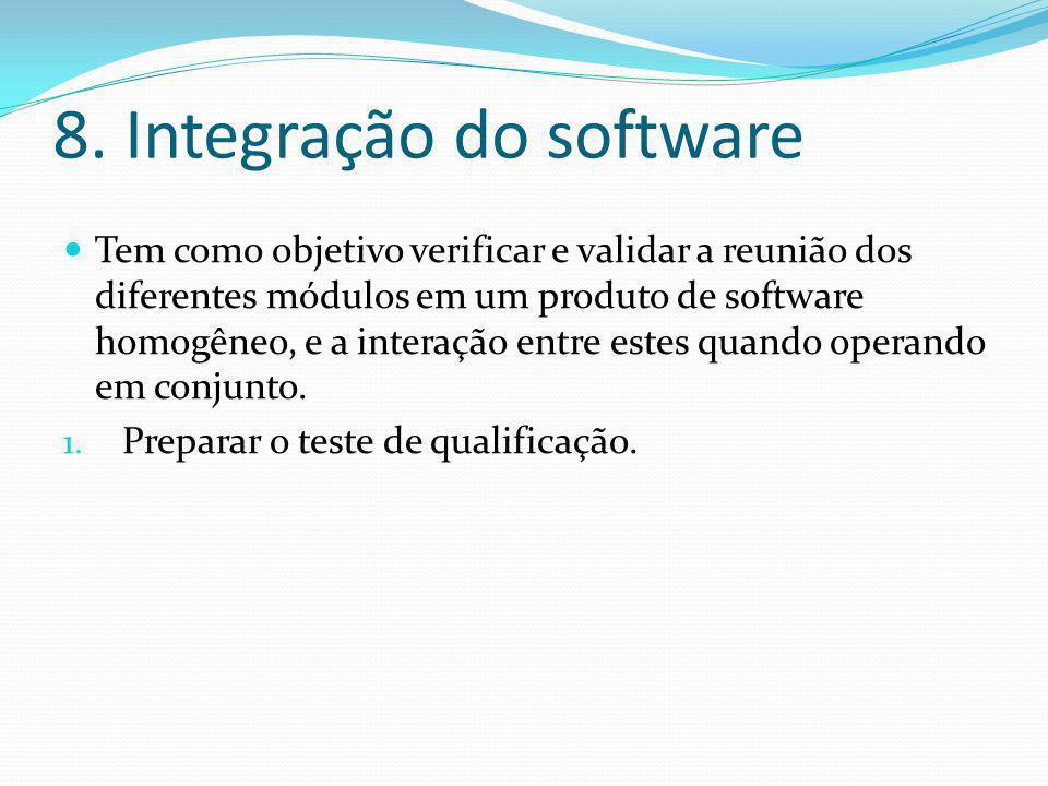 8. Integração do software