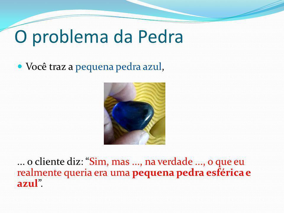 O problema da Pedra Você traz a pequena pedra azul,