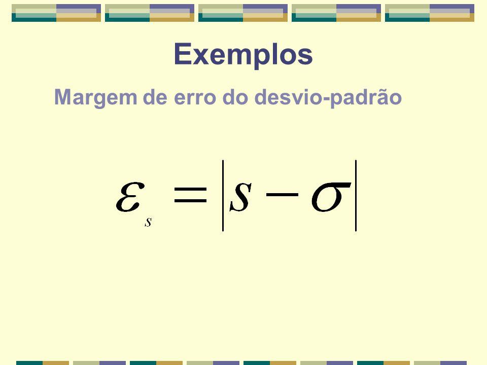 Exemplos Margem de erro do desvio-padrão