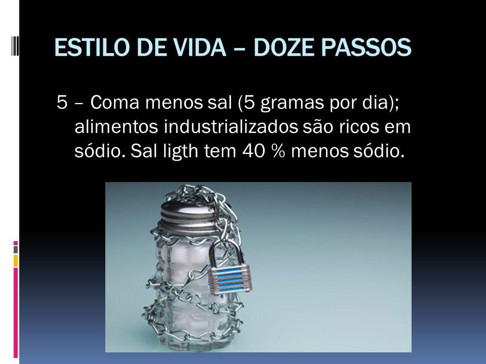 ESTILO DE VIDA – DOZE PASSOS
