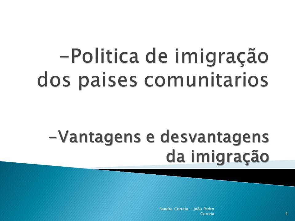-Politica de imigração dos paises comunitarios