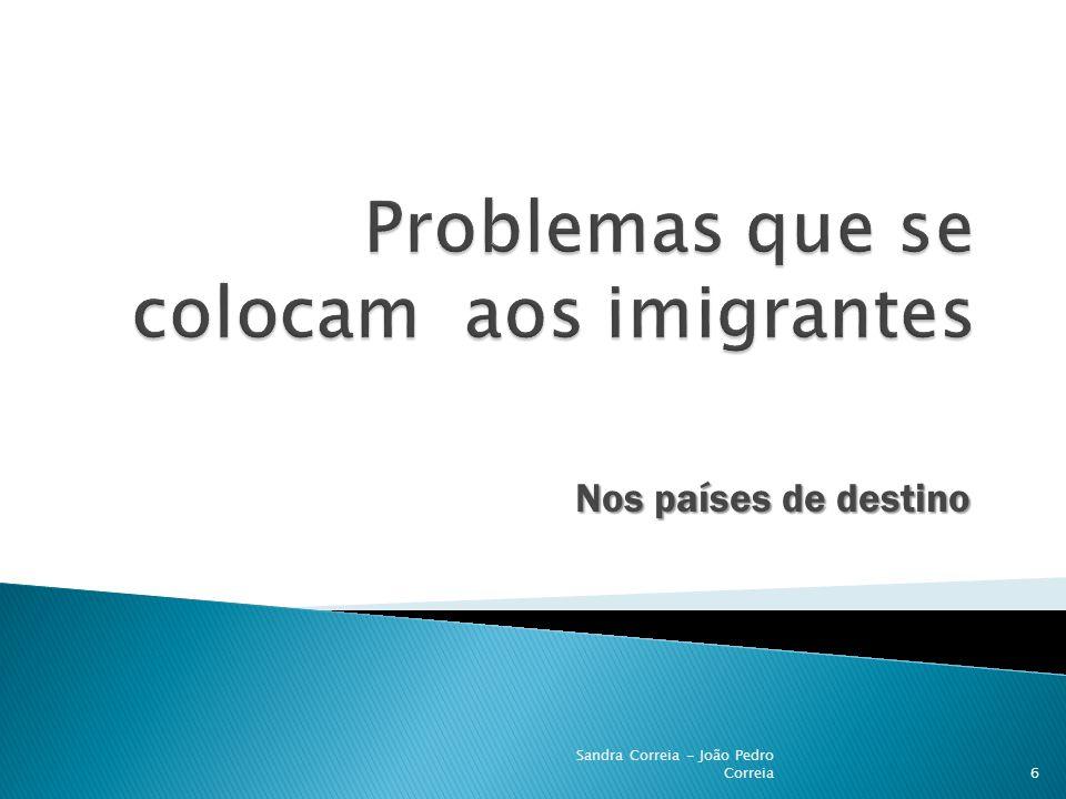 Problemas que se colocam aos imigrantes