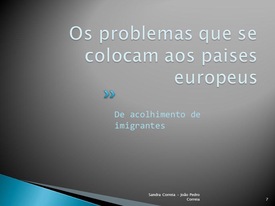 Os problemas que se colocam aos paises europeus