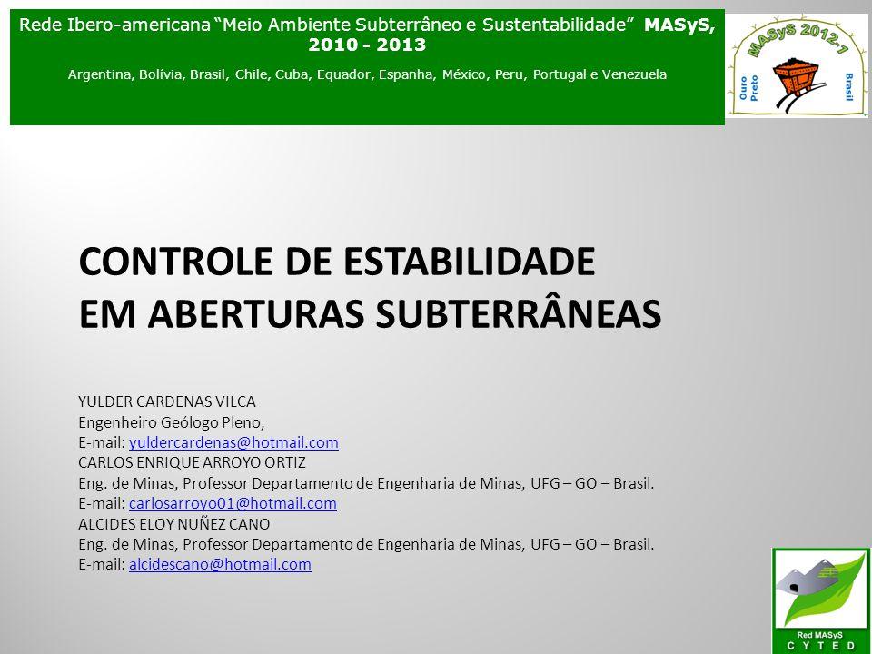 Rede Ibero-americana Meio Ambiente Subterrâneo e Sustentabilidade MASyS, 2010 - 2013
