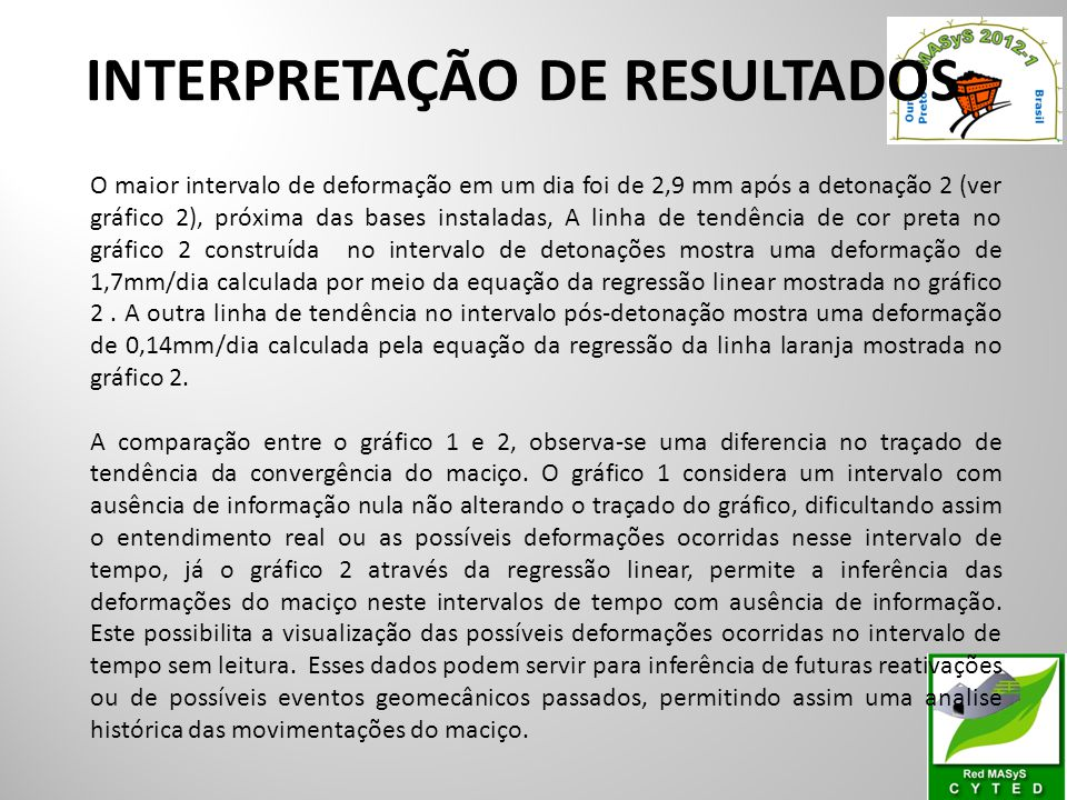 INTERPRETAÇÃO DE RESULTADOS