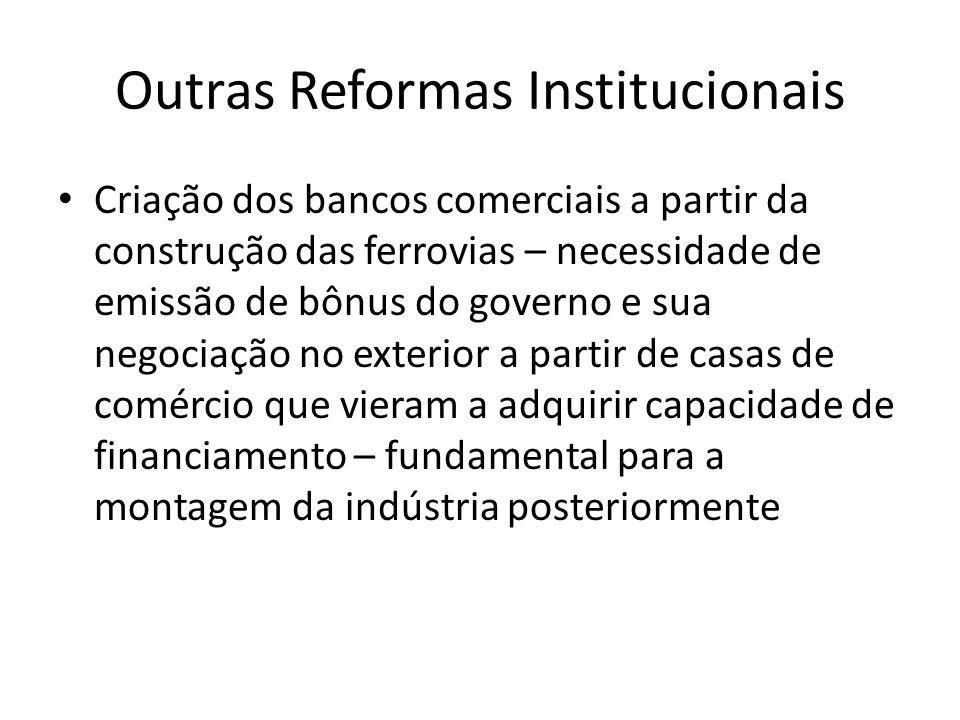Outras Reformas Institucionais