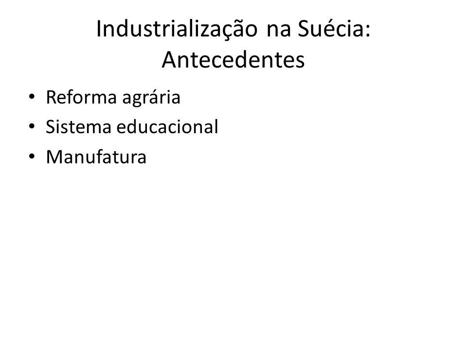 Industrialização na Suécia: Antecedentes